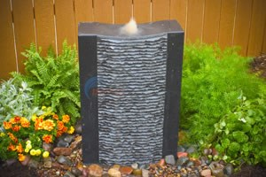 Aquascape Grooved Black Stone Water Fountain - 98549