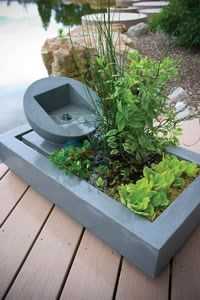 Aquascape Deck Pond - Rectangular/Weathered Concrete Kit - 98863