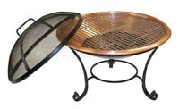 Copper Metallic Outdoor Fireplace - BF2400
