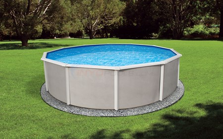 "Belize 12' Round 52"" Steel Pool - NB2520"