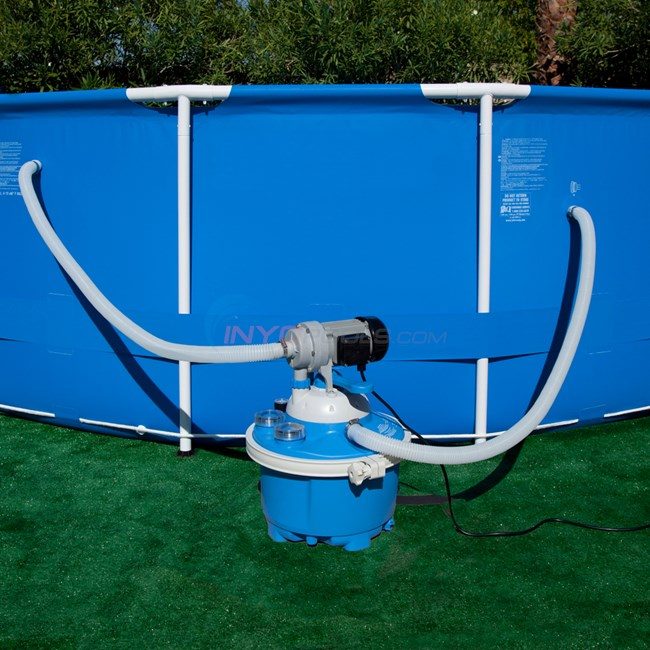 Sandpro 20es sand filter and pump system ne6051 for Obi filtersand pool