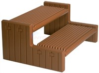Custom Molded Products Handi-Step Spa Step Straight Style - Redwood - NP550