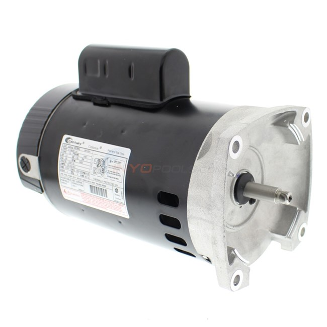 A.O. Smith 1 HP Square Flange 56Y Full Rate Motor - B2848