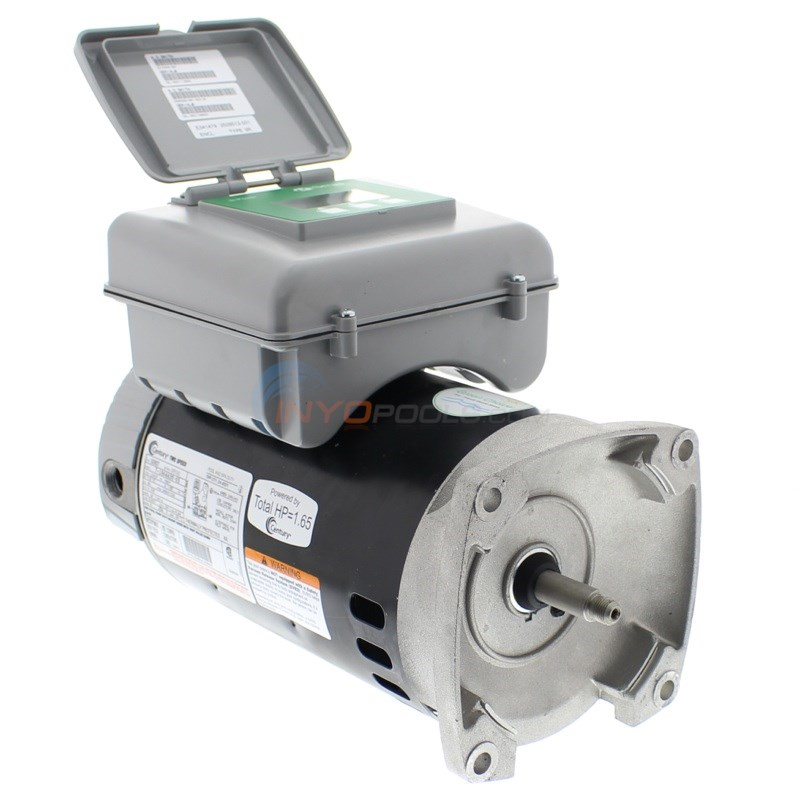 A.O. Smith Pool Motor Square Flange 1 HP Full Rate Dual Speed w/ Digital Controller - B2982T