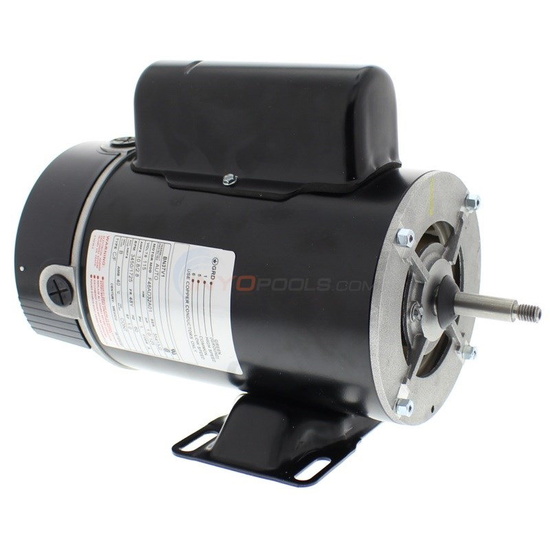 Magnetek 1 HP 2 Speed 115V Thru-Bolt Motor - BN37V1