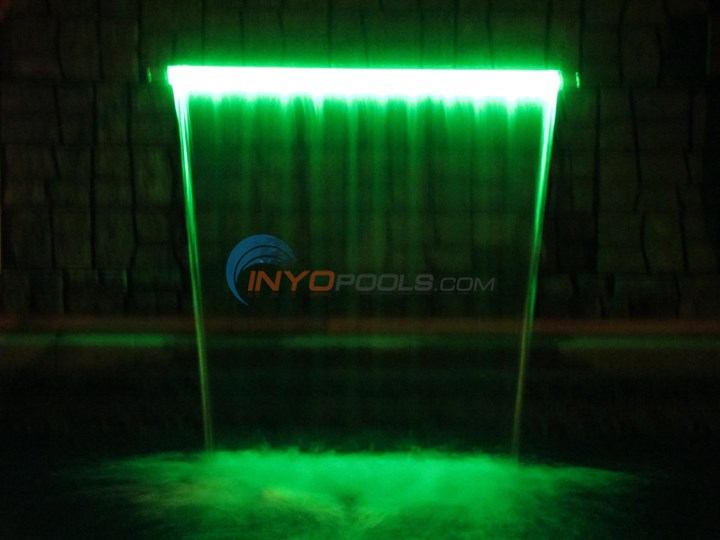 "36"" LED Pool Waterfall Color Changing w/ 6"" lip - Gray - 25677-331-000"