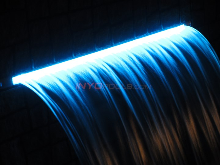 "24"" LED Pool Waterfall Color Changing w/ 6"" lip - Black - 25677-234-000"