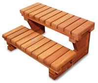 "Redwood Spa Steps, 30"" Wide Double - NO LONGER AVAILABLE - DS-30"