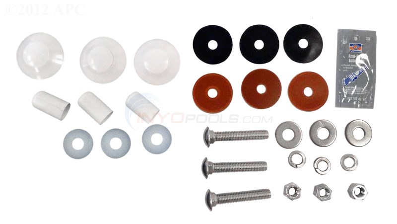 Interfab Complete Duro-spring Board Mounting Kit, 3 Bolt Stainless (ds-m)
