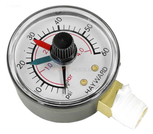 Pressure Gauge With Dial - Bottom Mount