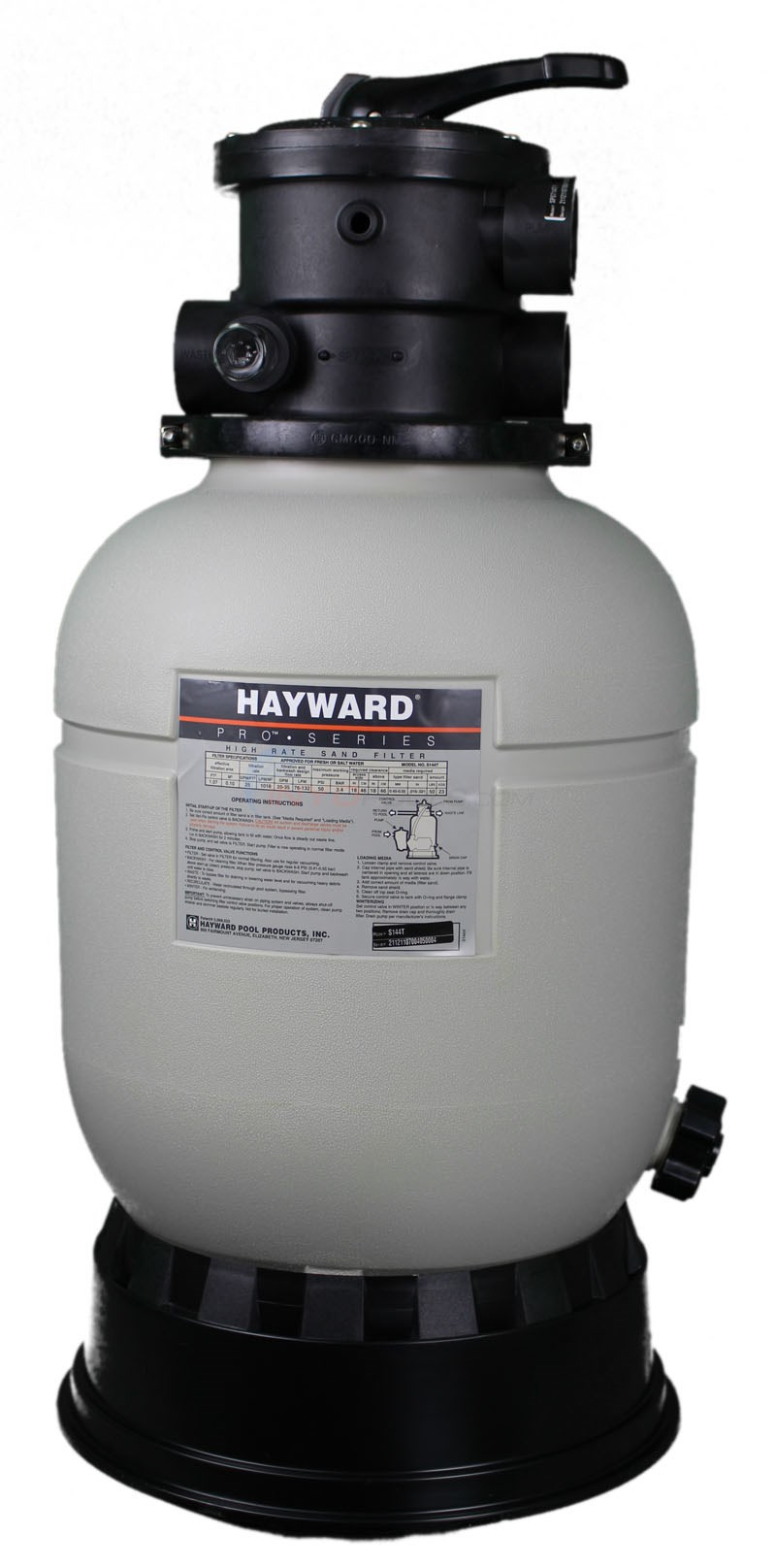 "Hayward Swimming Pool Filter - Sand - Top Mount Valve 14"" Tank - S144T"