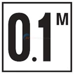 "Inlays Depth Marker 6"" Smooth Tile Metric (1 tile)-2.4 with M - C612724"