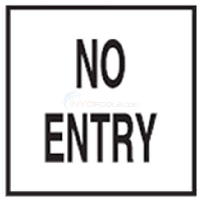 "Inlays Depth Marker 8"" Skid-Resistant Tile No Entry (1 Tile) - C821528"