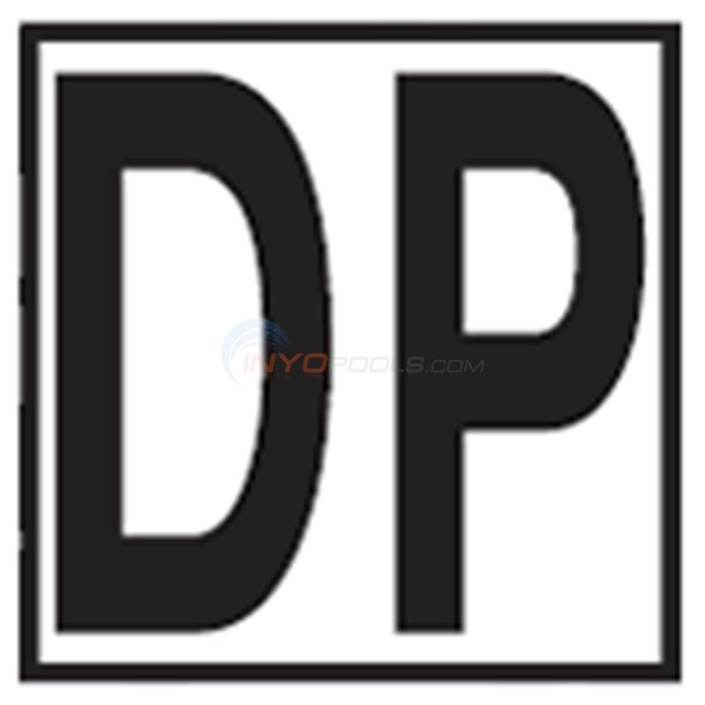 """Inlays Depth Marker-Ceramic 6"""" B/W Smooth 5"""" Letters DP"""