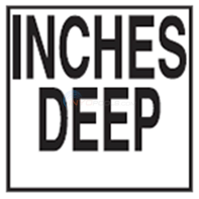 "Inlays Depth Marker-Ceramic 6"" B/W Smooth Top Print Inches Deep (1 Tile) - CCT611532"