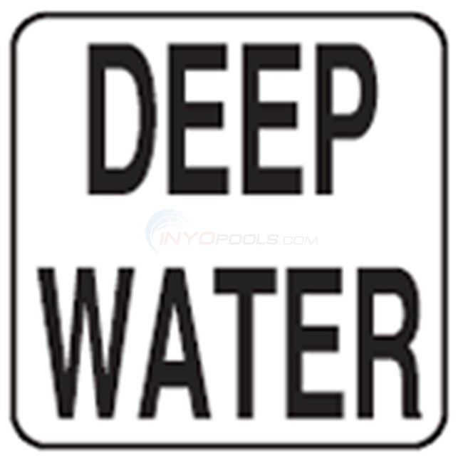 "Inlays Depth Marker-Vinyl 8"" Skid Resistant Deep Water (8"" Length) - V821515"