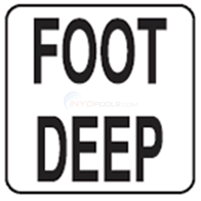 "Inlays Depth Marker-Vinyl 8"" Skid Resistant Foot Deep (8"" Length) - V821533"