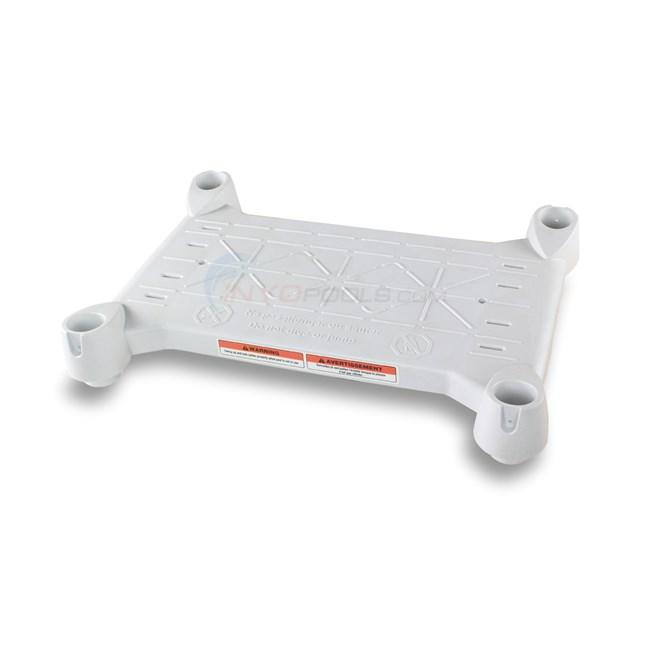 Innovaplas Ladder Platform White 160 0003 Inyopools Com