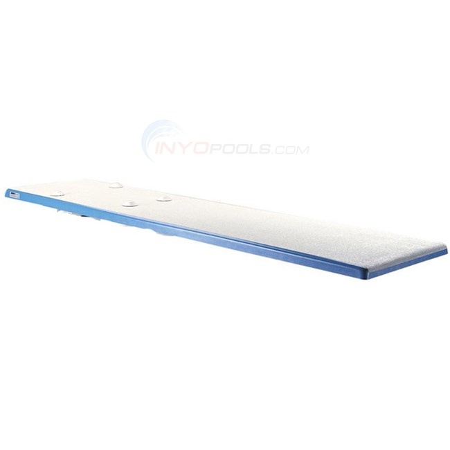 Interfab Baja Board 6 ft White w/ Blue Trim - BA6BW