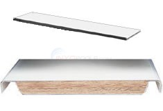 Interfab Techni Beam Board 8 ft. White w/ Blue Trim - TB8BW