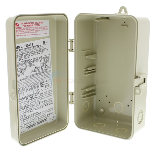 Intermatic Plastic Time Clock Enclosure Only - 2T2502GA