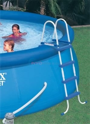 "Intex Above Ground Pool Ladder with Barrier for 48"" Pools - 58978E"