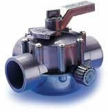 Jandy Gray 3 Way Valve 1 1/2 Inside / 2 Outside - 1154