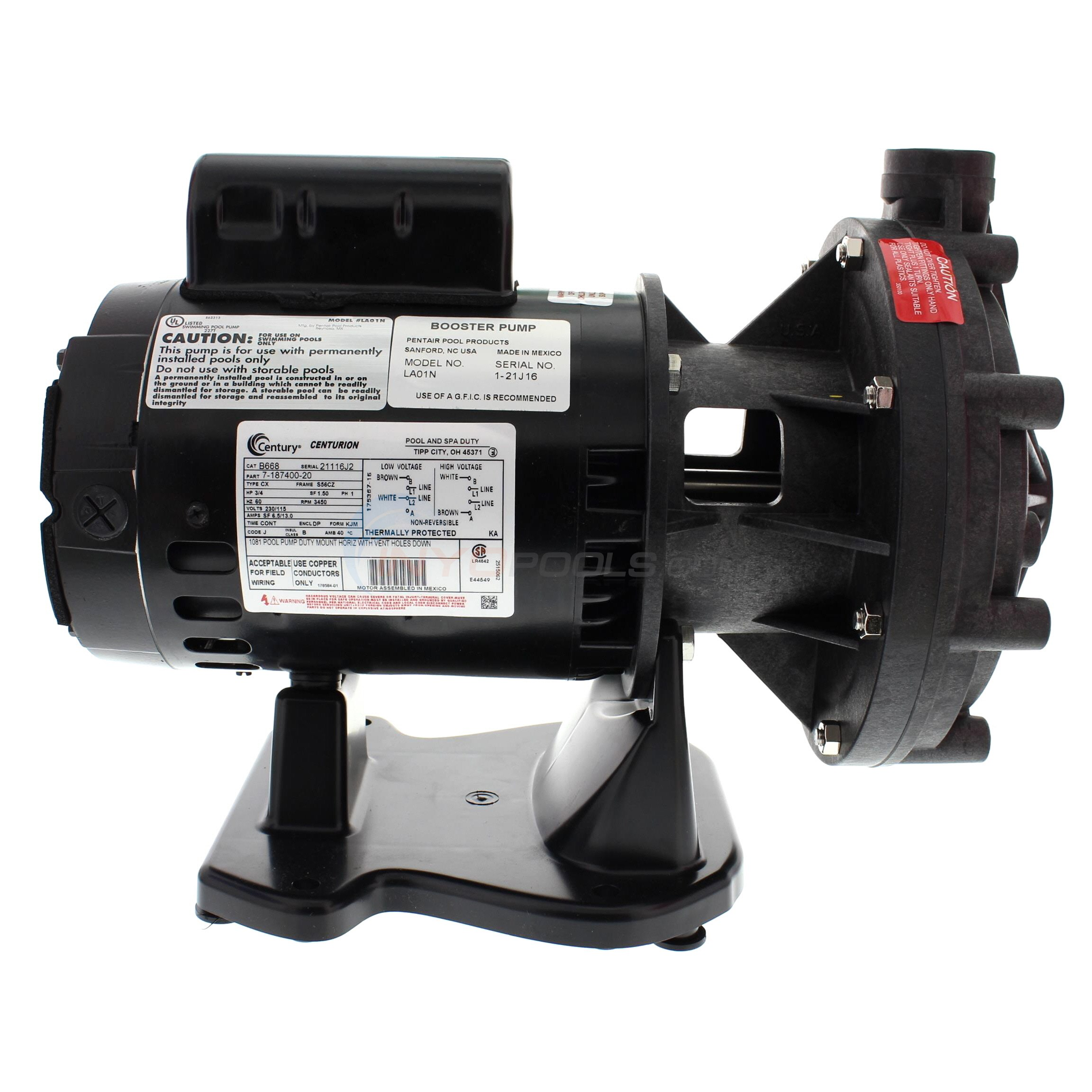 Pentair Letro Universal 3/4 HP Booster Pump - LA01N