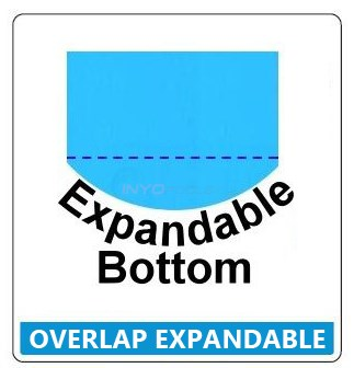 "18' x 33' Oval up to 72"" Depth Expandable Blue Standard Gauge Liner - NL998920"