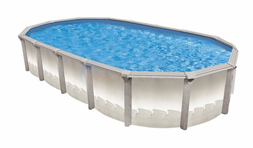"Wilbar Matrix 15' x 30' Oval 54"" Resin Pool (Skimmer Included) - PMATYM153054RRRRRS1"