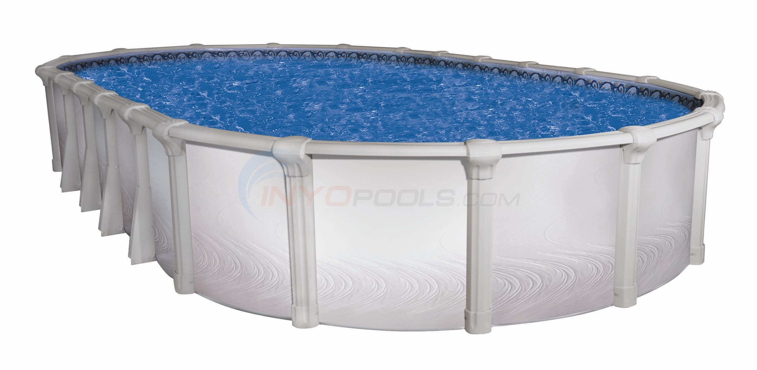 "Morada 12' x 17' Oval 54"" Hybrid Above Ground Pool (Skimmer Included)"