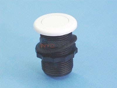 "Low Profile Air Button, 1 1/4"" Mtg., White, TDI - MPT-3428W"