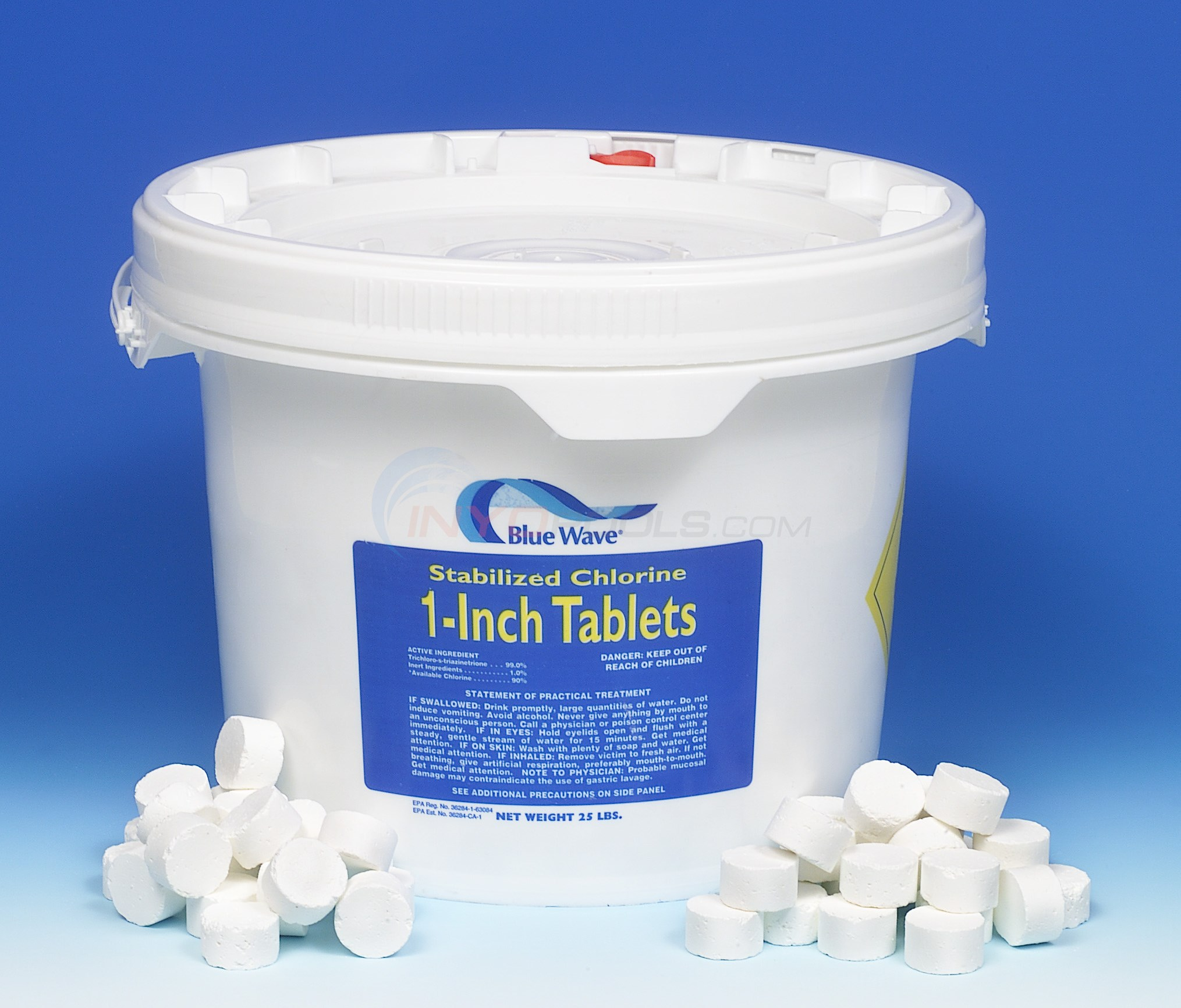 Blue Wave 1 inch Chlorine Tablets 25 lb. pail - NC120