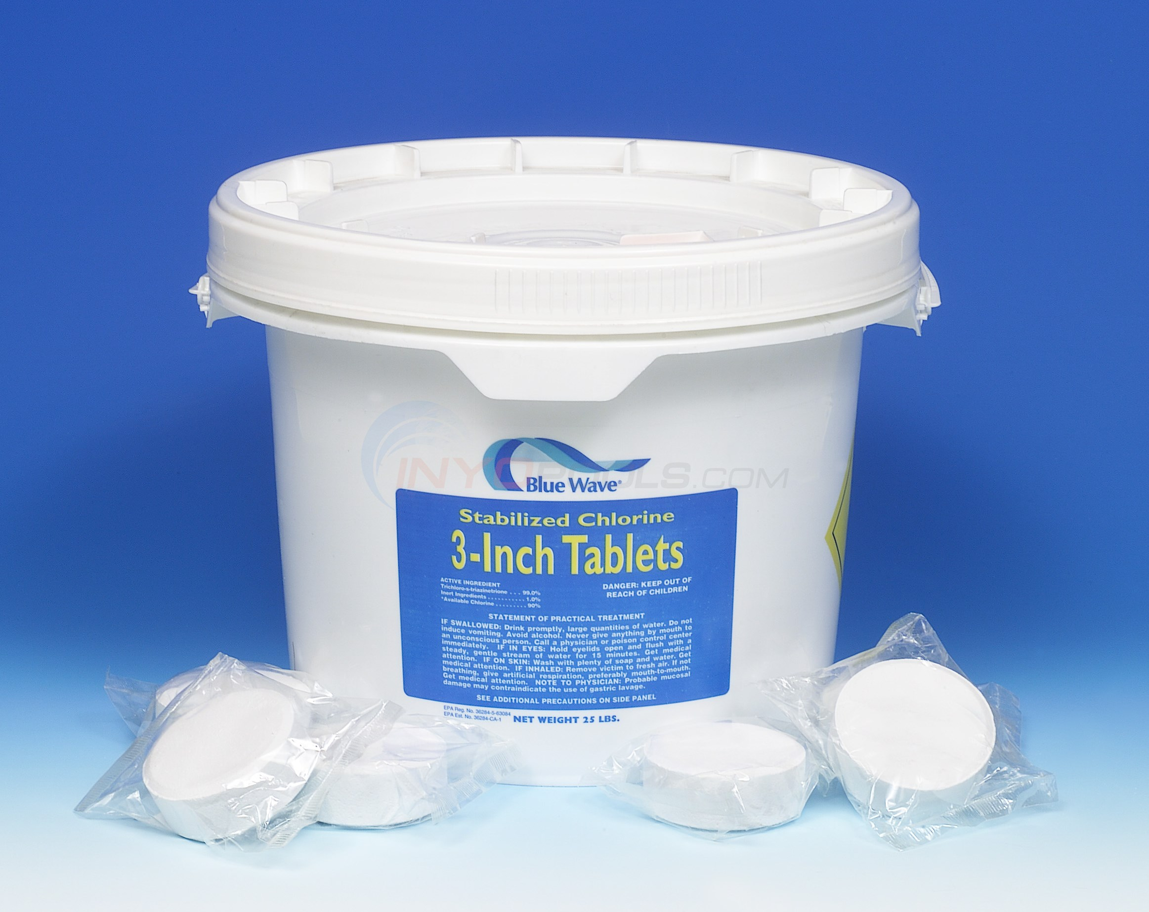 Blue Wave 3 inch Chlorine Tablets 25 lb. pail - NC140