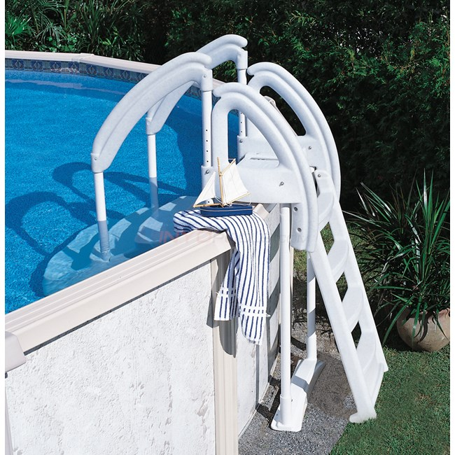 Royal entrance outside ladder attachment ne104 - Above ground pool steps for handicap ...