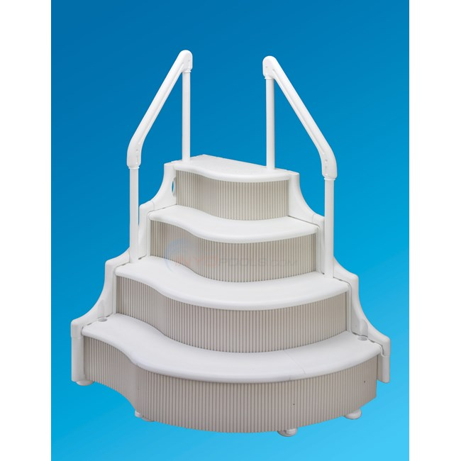 Ocean blue grand entrance a g step ne1080 - Above ground wedding cake pool steps ...