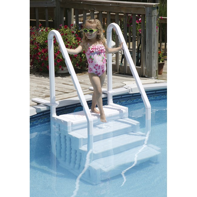 blue wave easy pool step ne113 - Above Ground Pool Outside Steps
