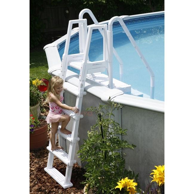 Blue Wave Easy Pool Step W Outside Ladder Ne126