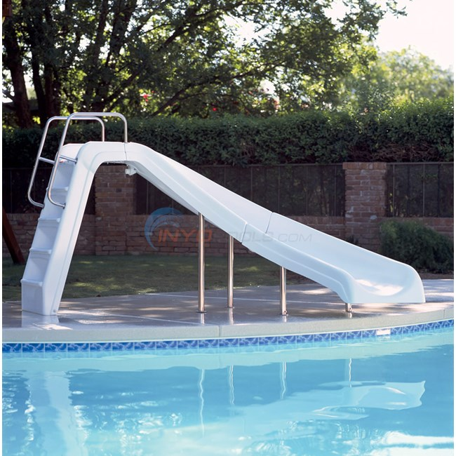 Interfab white water pool slide left wwscl for Swimming pool slide replacement parts