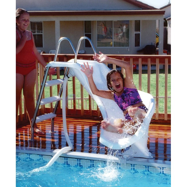 Interfab Zoomerang Pool Slide Right-Discontinued No Longer Available to Order! - ZMCR