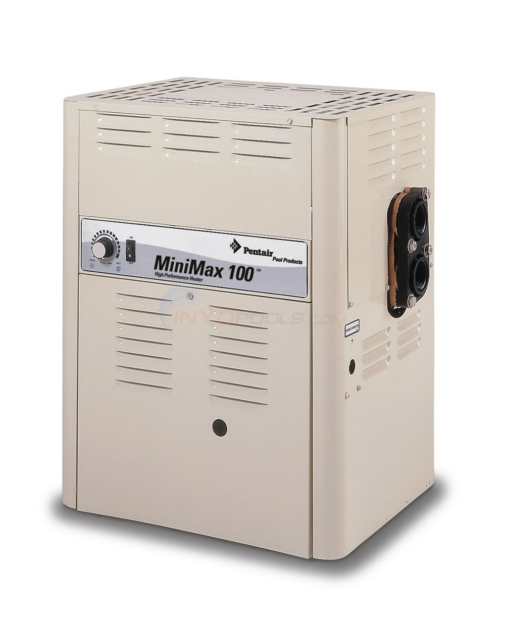 Pentair Minimax 100 A/G Pool Heater 100000 BTU NG MV - 460352