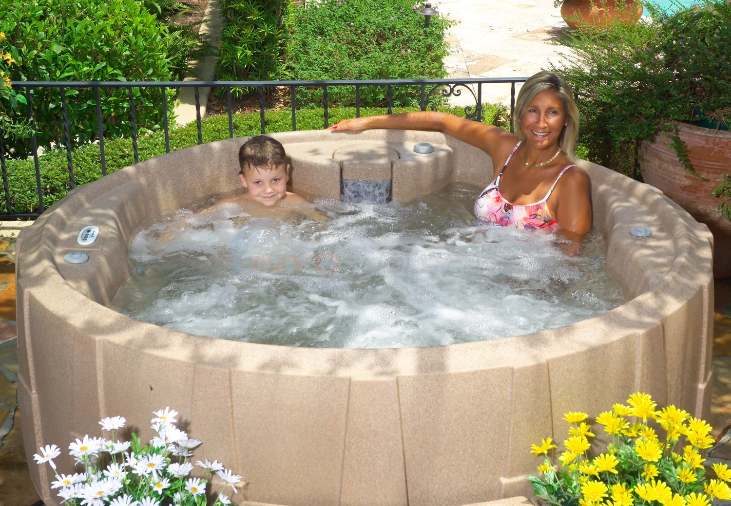 Blue Wave Bali 4 Person Spa - Sandstone - NP5810