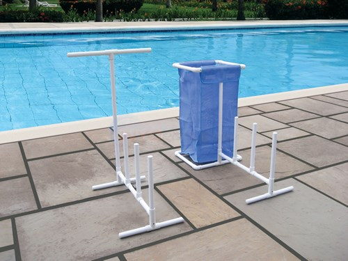 Blue Wave Raft, Float & Towel Caddy w/Hamper - NT127