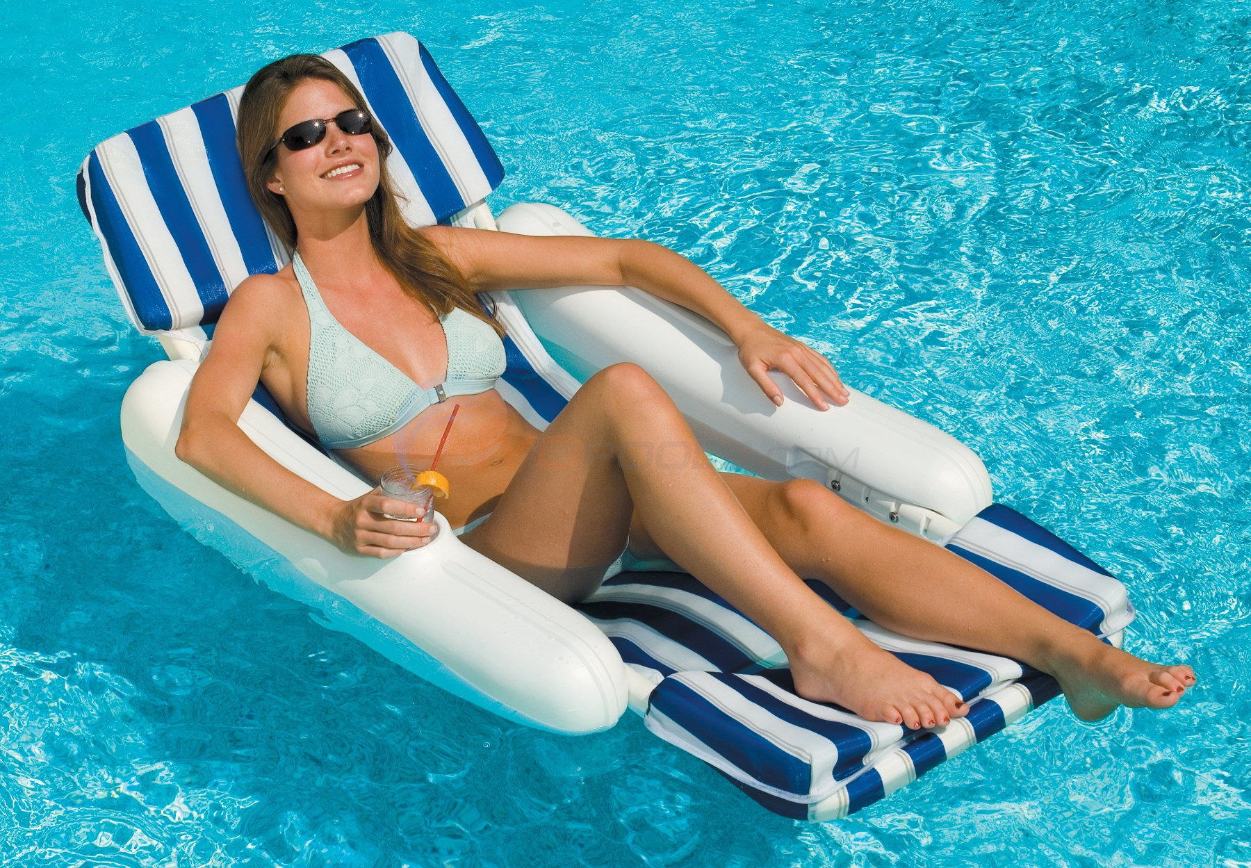 Blue Wave Sunchaser Padded Floating Lounger - NT140