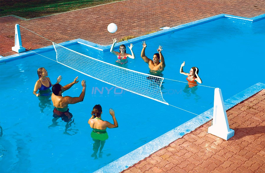 Swimline Pool Jam Inground V-Ball/B-Ball Combo
