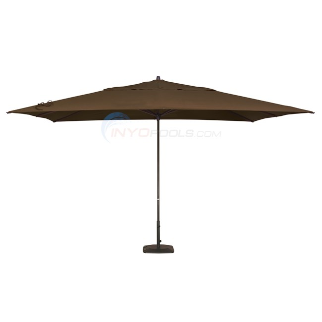 Pacific Easy Glide Umbrella & Base (10x13 Rect.) Kona Brown - NU5315