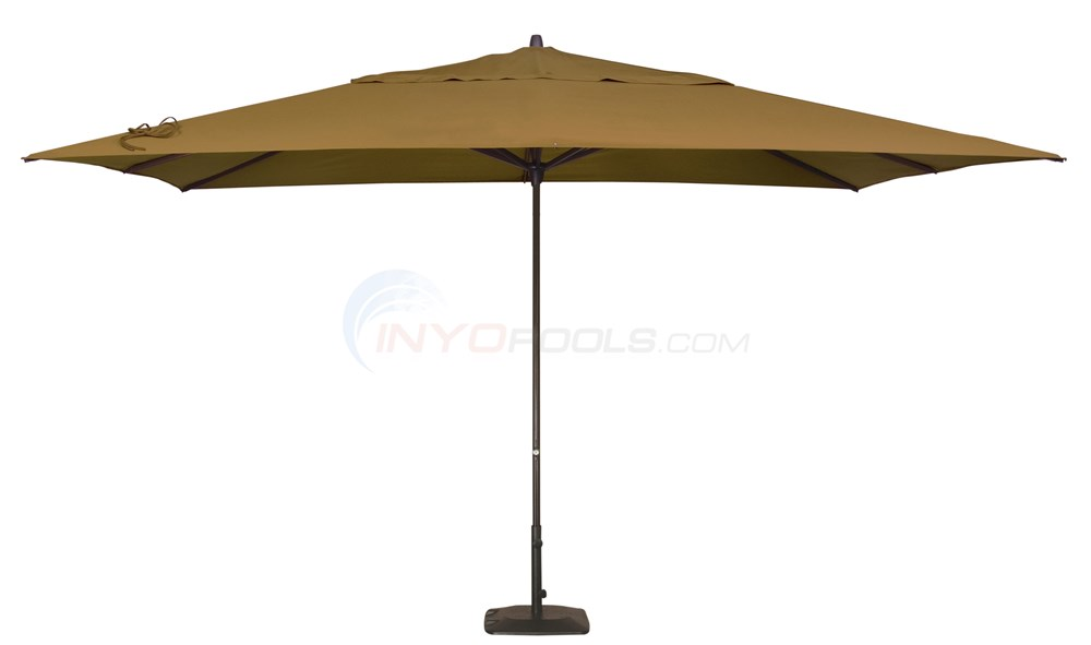 Pacific Easy Glide Umbrella & Base (10x13 Rect.) Teak - NU5335