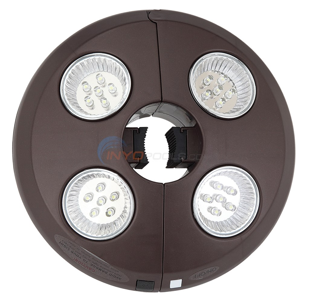 Rechargeable 4 Light Bronze Umbrella Light