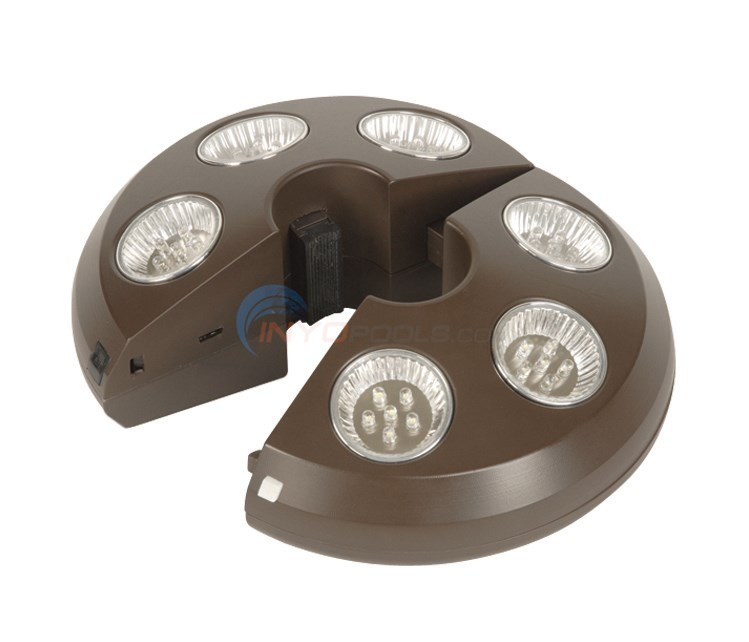 Rechargeable 6 Light Bronze Umbrella Light - NU5515