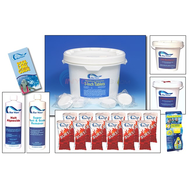 Blue Wave Pool Chemical Season's Supply Kit Large - NY998